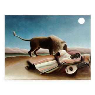 """""""El gitano durmiente"""" de Rousseau (1897) Postal"""