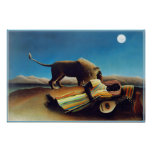 """""""El gitano durmiente"""" por Henri Rousseau Posters"""
