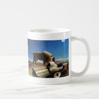 El gitano durmiente tazas de café