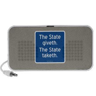 El giveth del estado. El estado taketh. Notebook Altavoces