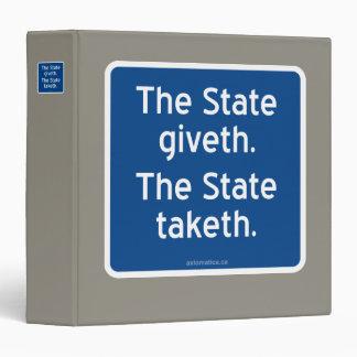 """El giveth del estado. El estado taketh. Carpeta 1 1/2"""""""