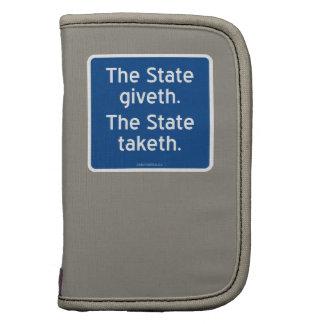 El giveth del estado. El estado taketh. Planificadores