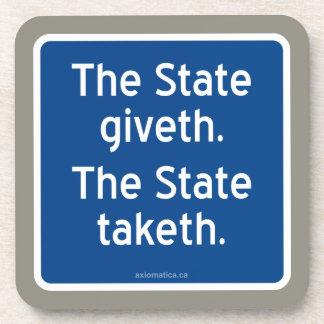 El giveth del estado. El estado taketh. Posavaso