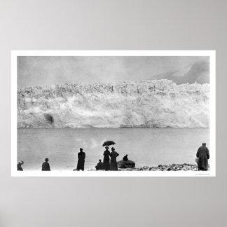El glaciar Alaska 1908 del niño Impresiones
