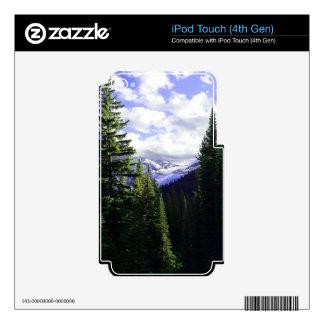 El glaciar de Jackson pasa por alto el glaciar iPod Touch 4G Calcomanía