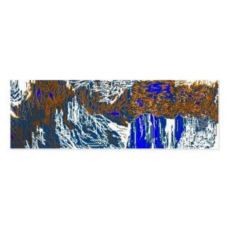 El glaciar tarjetas de visita mini