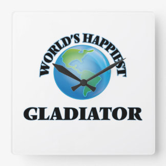 El gladiador más feliz del mundo reloj cuadrado