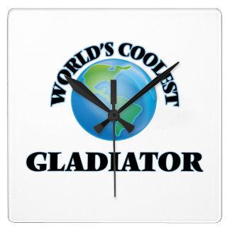 El gladiador más fresco del mundo reloj de pared