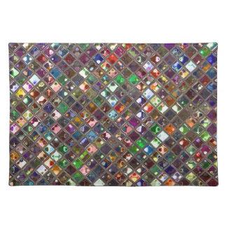 El Glitz teja el placemat multicolor de la impresi Mantel Individual