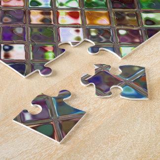 El Glitz teja rompecabezas multicolor de la impres