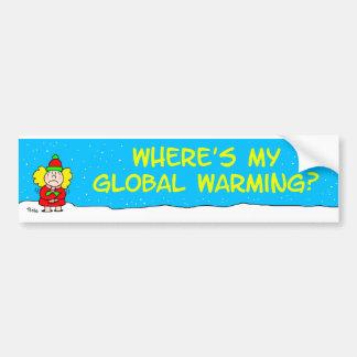 el globalwarming etiqueta de parachoque