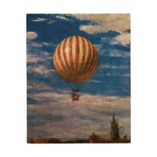 El globo, 1878 cuadro de madera