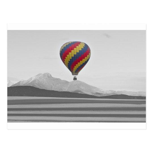 El globo colorido del aire caliente de Colorado y Postales