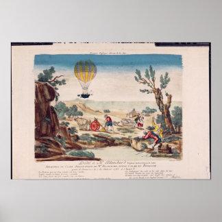 El globo de aire caliente de Jean Pedro Blanchard Posters