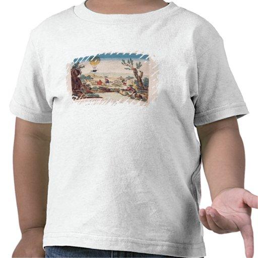 El globo de aire caliente de Jean Pedro Blanchard Camiseta