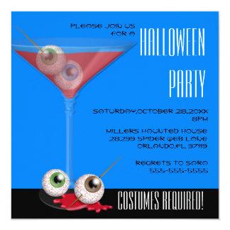 """El globo del ojo fantasmagórico lindo Martini Invitación 5.25"""" X 5.25"""""""
