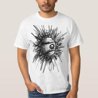 el globo del ojo garabatea la camiseta remera