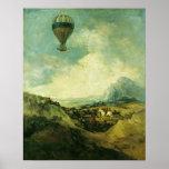 El globo o, la subida del Montgolfier Impresiones