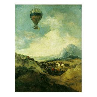 El globo o, la subida del Montgolfier Tarjeta Postal