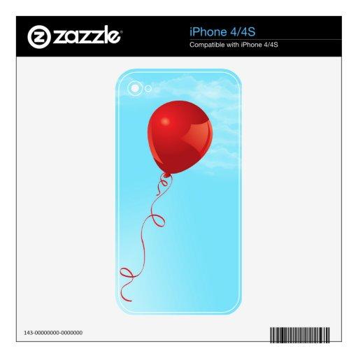 El globo rojo skin para el iPhone 4