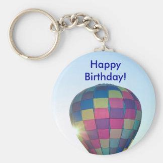 ¡El globo Sun estalló feliz cumpleaños! Llavero Redondo Tipo Pin