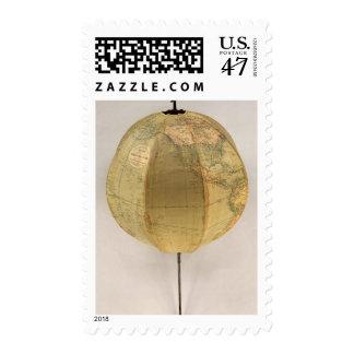 El globo terrestre portátil de Betts Timbre Postal