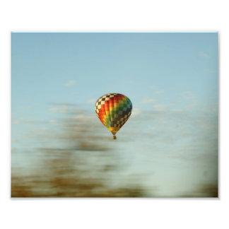 El globo viaja la impresión fotográfica 10x8
