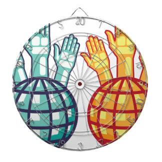 El globo y las manos suben vector