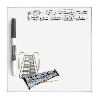 El Glockenspiel (campanas) seca al tablero del Pizarra