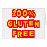 El gluten 100% libera felicitación