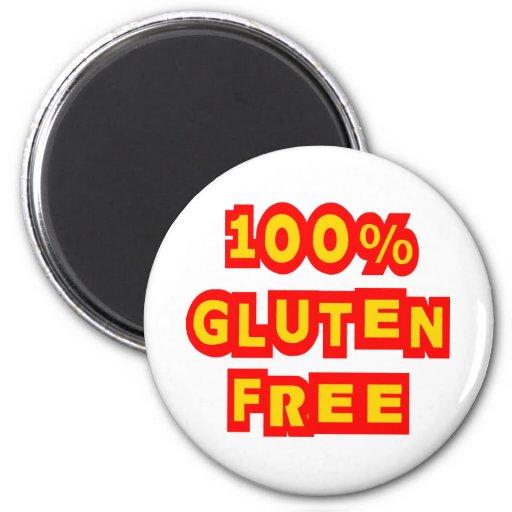 El gluten 100% libera imán para frigorífico