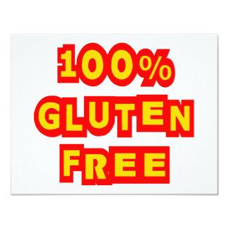 El gluten 100% libera invitación 10,8 x 13,9 cm