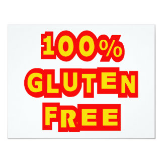 """El gluten 100% libera invitación 4.25"""" x 5.5"""""""