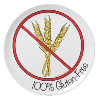 El gluten 100% libera plato de comida