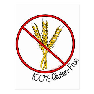 El gluten 100% libera postales