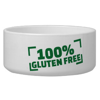 El gluten 100% libera tazones para perro