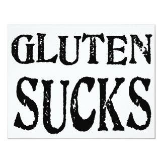 """El gluten chupa invitación 4.25"""" x 5.5"""""""