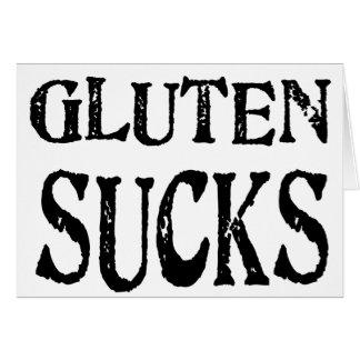 El gluten chupa tarjeta de felicitación