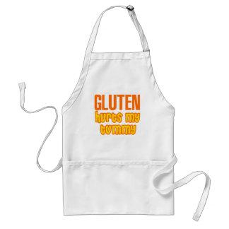 El gluten daña mi panza delantal