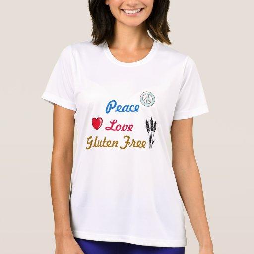 El gluten del amor de la paz libera camiseta