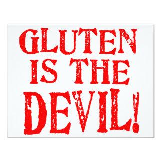 """El gluten es el diablo invitación 4.25"""" x 5.5"""""""