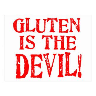 El gluten es el diablo tarjetas postales
