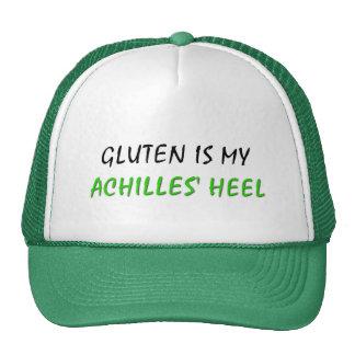 El gluten es el mi talón de Aquiles Gorros