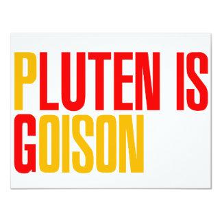"""El gluten es veneno invitación 4.25"""" x 5.5"""""""