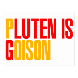 El gluten es veneno tarjetas postales