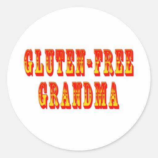 El gluten libera a la abuela pegatina redonda