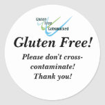 El gluten libera a los pegatinas