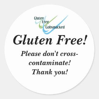 El gluten libera a los pegatinas pegatina redonda