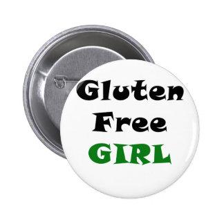 El gluten libera al chica pin redondo de 2 pulgadas