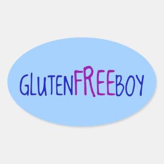 El gluten libera al muchacho colcomanias óval